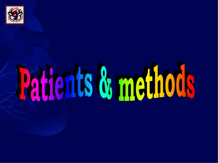 Patients & methods
