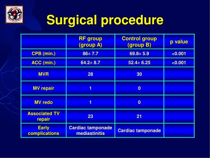 Surgical procedure