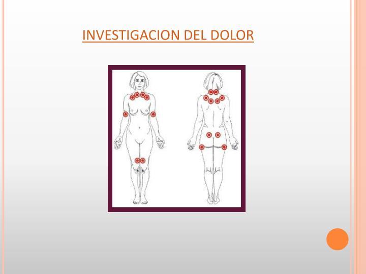 INVESTIGACION DEL DOLOR