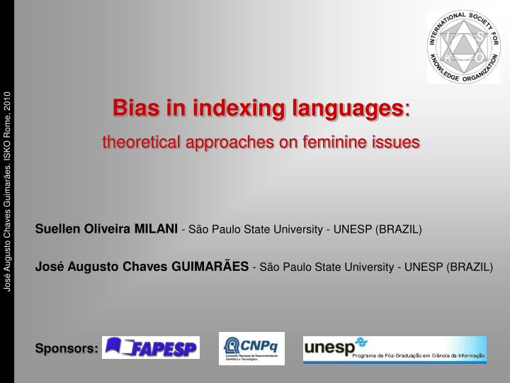 Bias in indexing languages