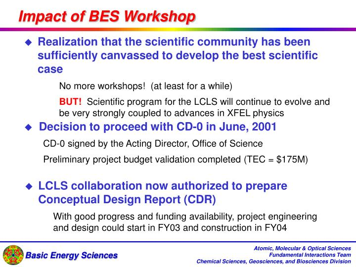 Impact of BES Workshop