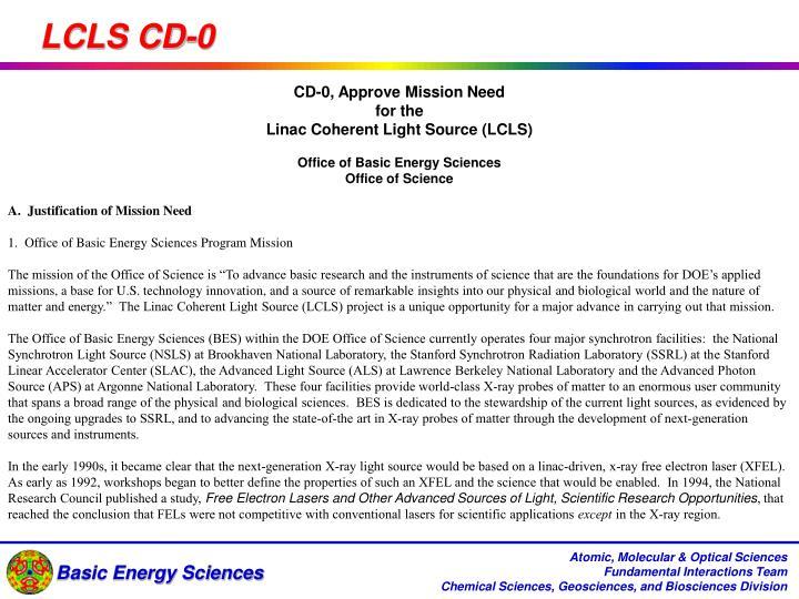 LCLS CD-0
