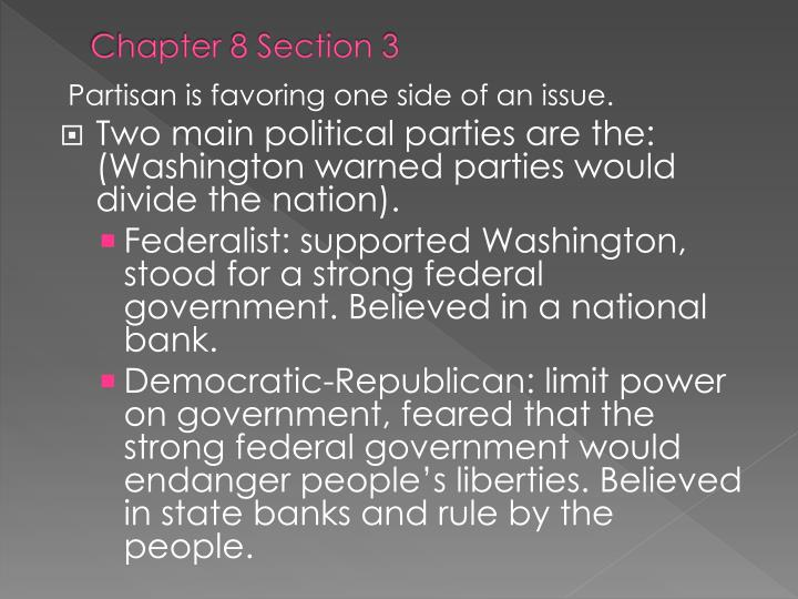 Chapter 8 Section 3