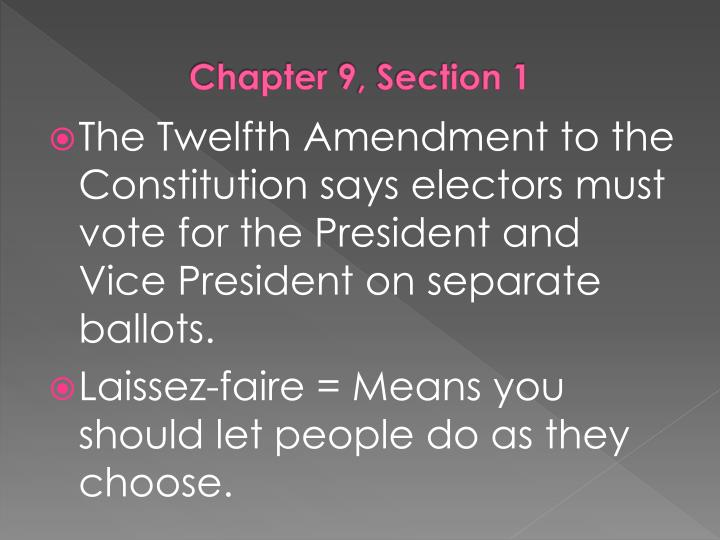 Chapter 9, Section 1