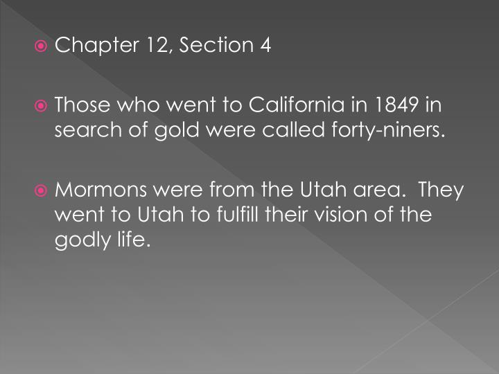 Chapter 12, Section 4