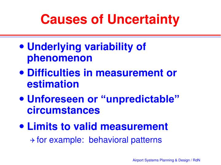 Causes of uncertainty