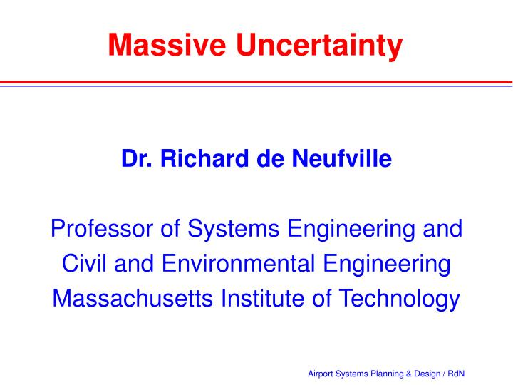 Massive Uncertainty