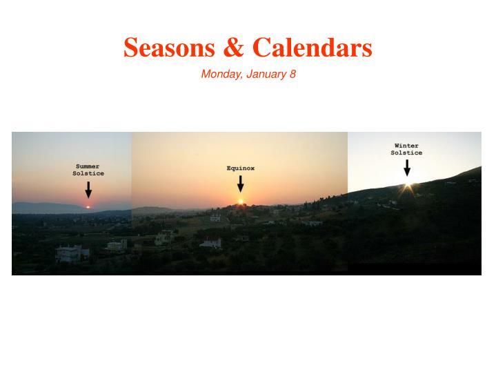 Seasons & Calendars