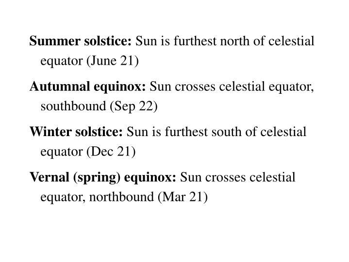 Summer solstice: