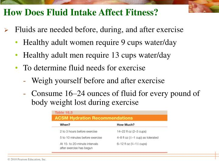 How Does Fluid Intake Affect Fitness?