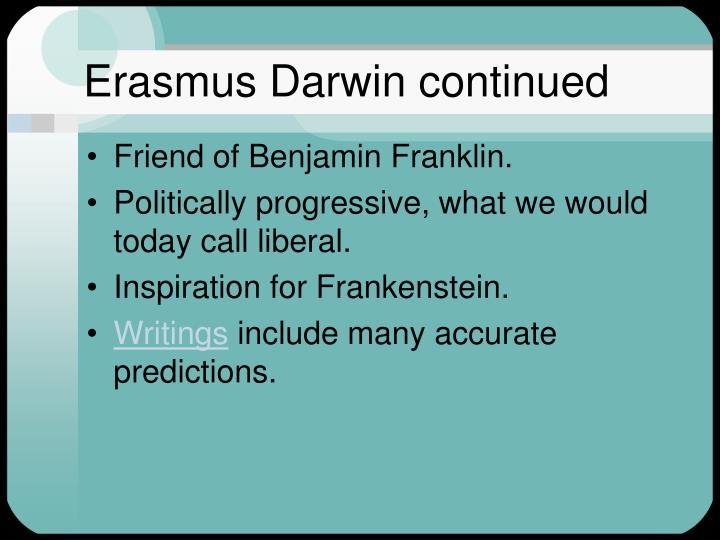 Erasmus Darwin continued