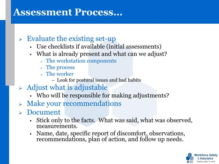 Assessment Process…