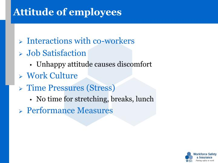 Attitude of employees