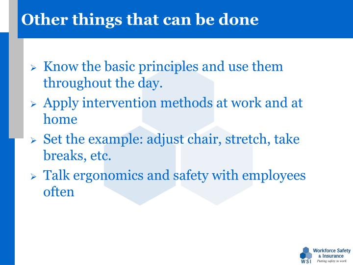 Other things that can be done
