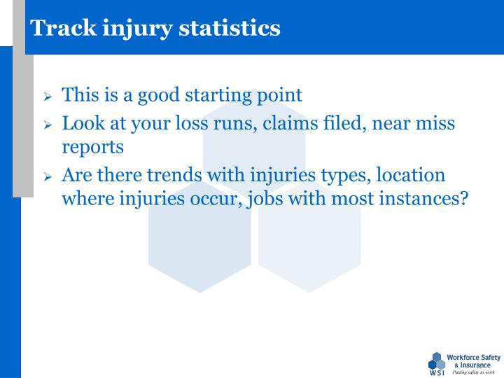 Track injury statistics