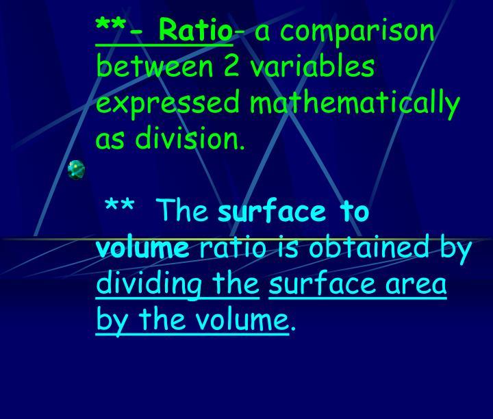 **- Ratio