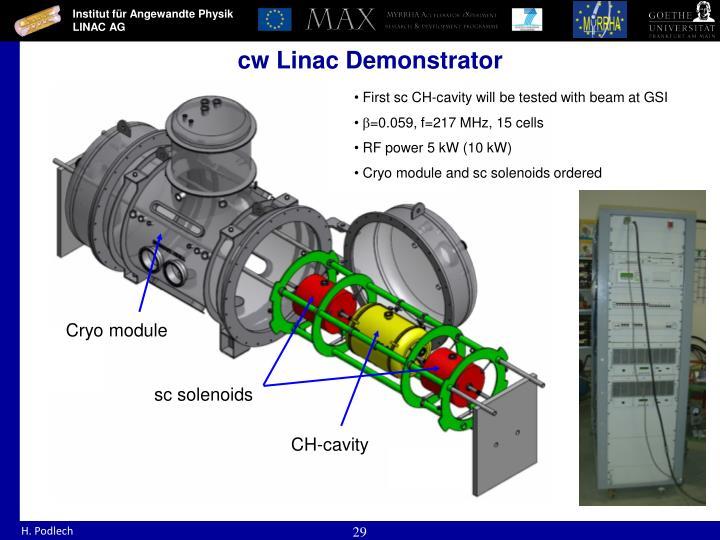 cw Linac Demonstrator