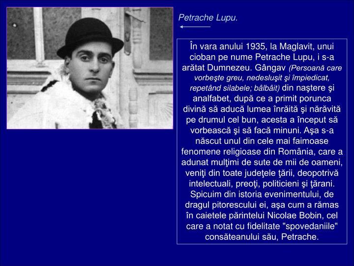 Petrache Lupu.