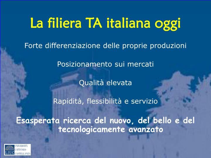 La filiera TA italiana oggi