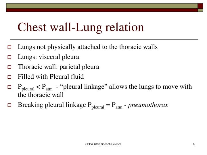 Chest wall-Lung relation