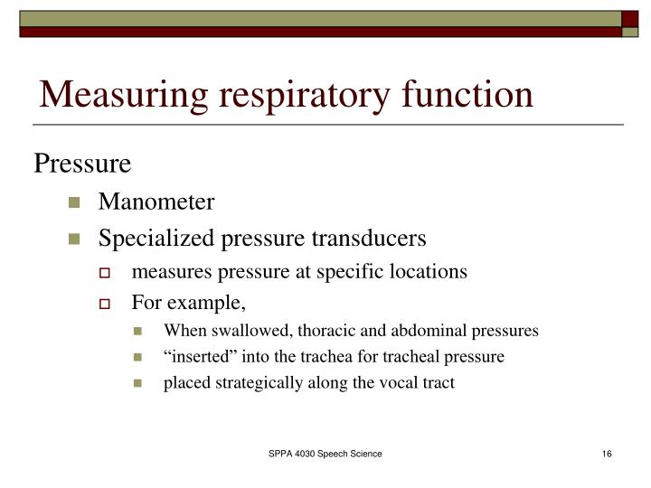 Measuring respiratory function
