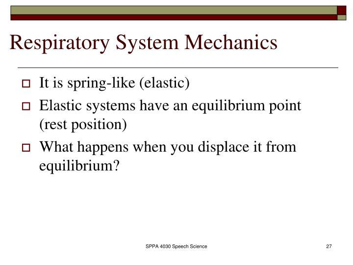 Respiratory System Mechanics