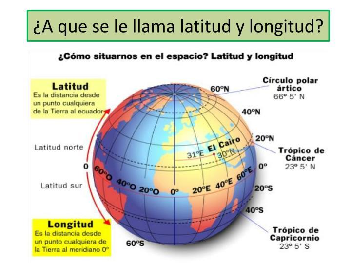 ¿A que se le llama latitud y longitud?
