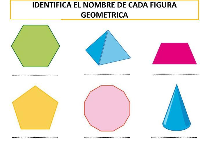 IDENTIFICA EL NOMBRE DE CADA FIGURA GEOMETRICA