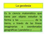 la geodesia