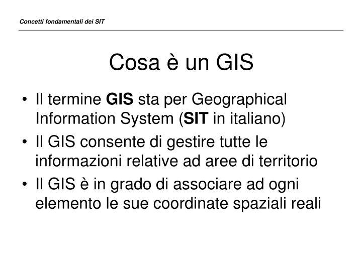 Cosa è un GIS