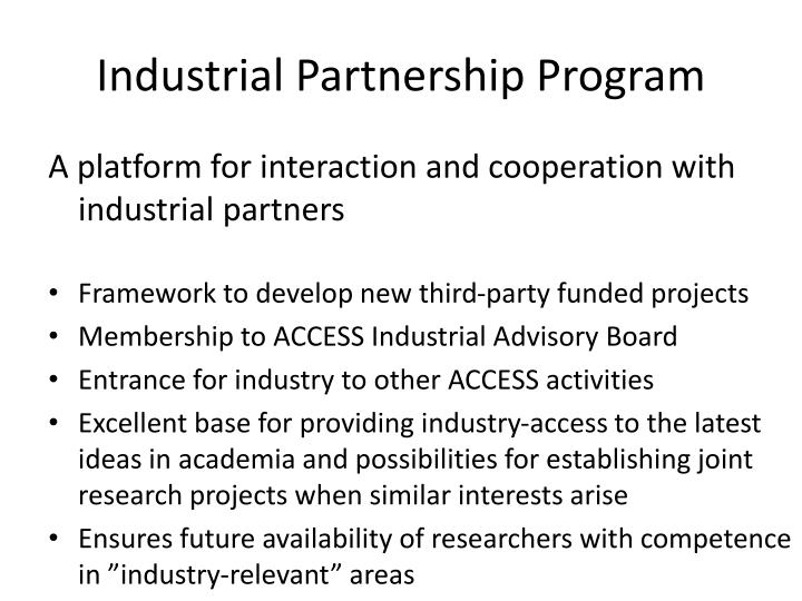 Industrial partnership program
