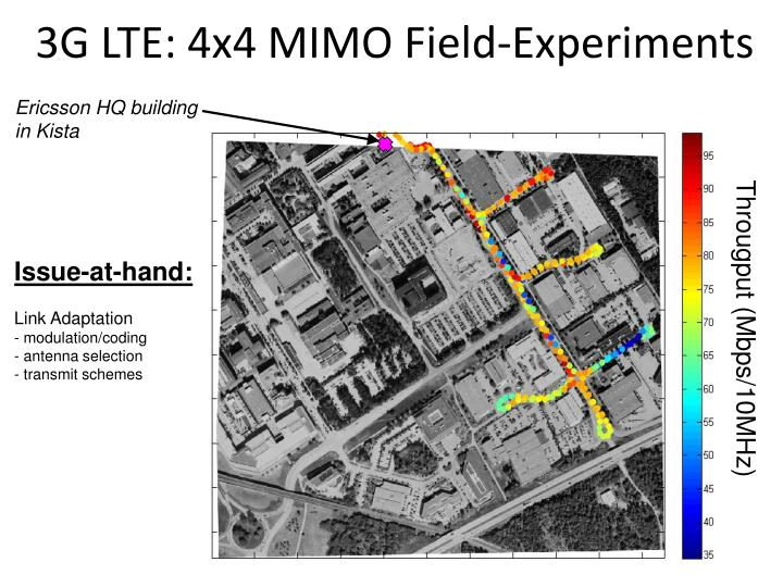 3G LTE: 4x4 MIMO Field-Experiments