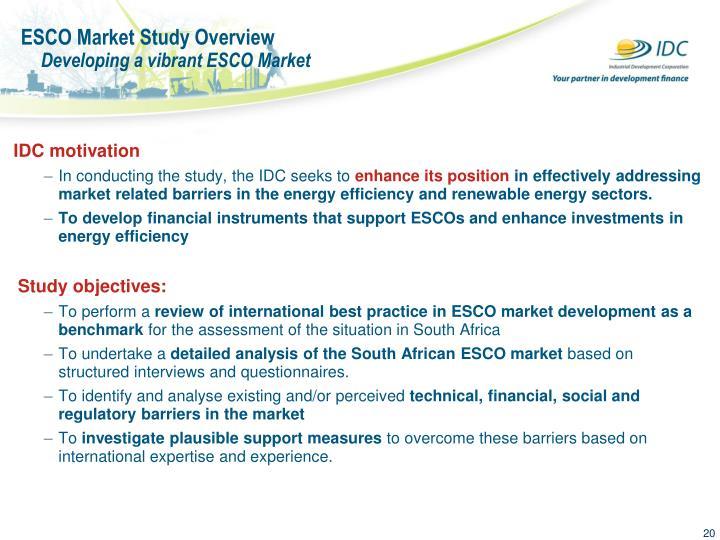 ESCO Market Study Overview