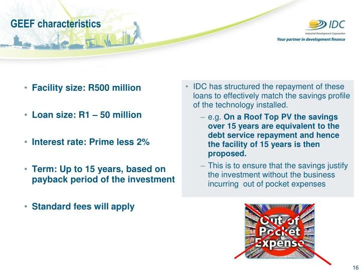 Facility size: R500 million