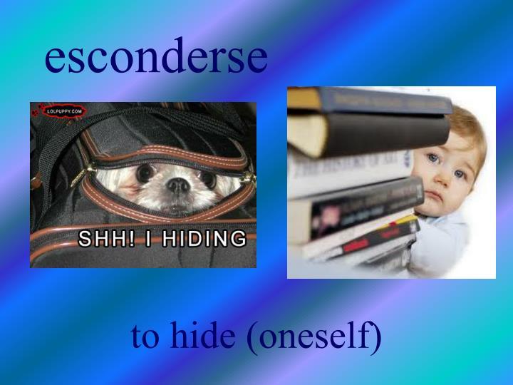 esconderse
