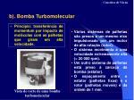 b bomba turbomolecular