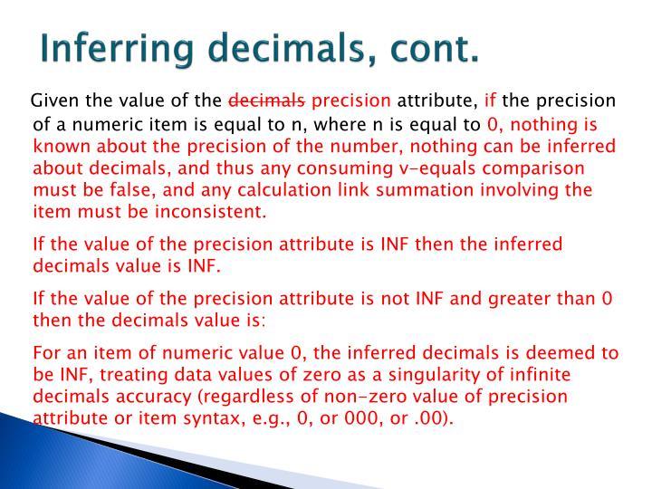 Inferring decimals, cont.