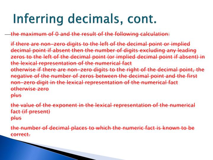 Inferring decimals, cont.