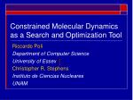 constrained molecular dynamics as a search and optimization tool