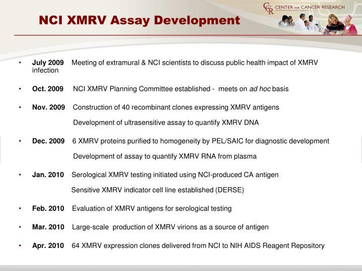 NCI XMRV Assay Development