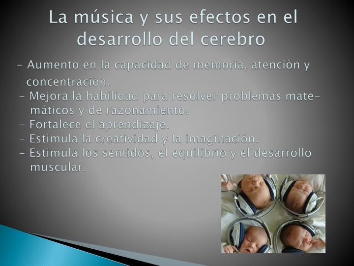 La música y sus efectos en el