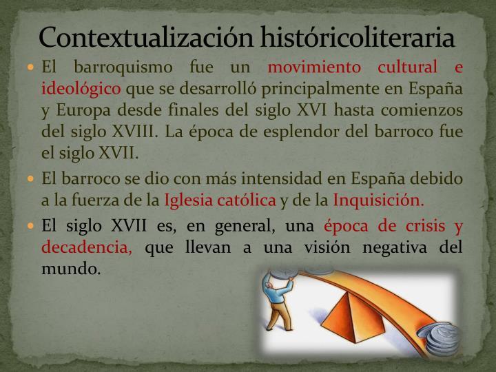 Contextualización históricoliteraria