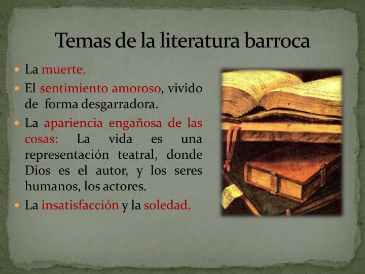 Temas de la literatura barroca