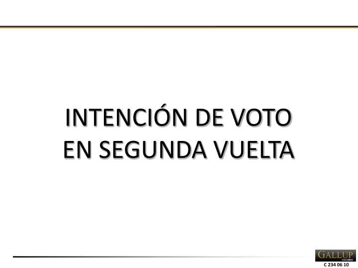 INTENCIÓN DE VOTO EN