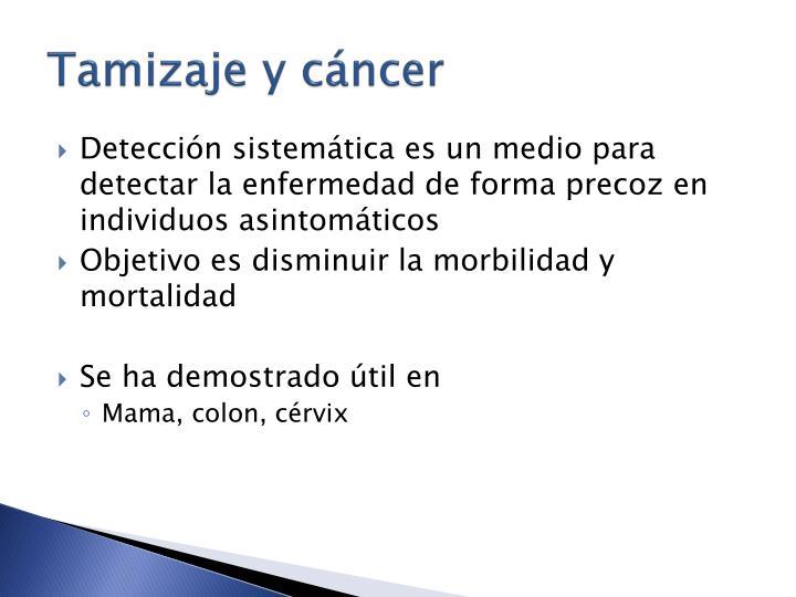 Tamizaje y cáncer