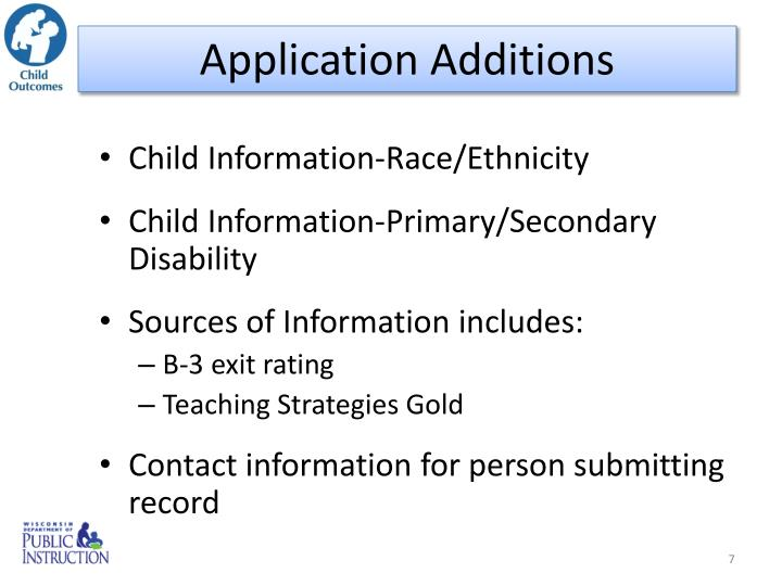 Application Additions
