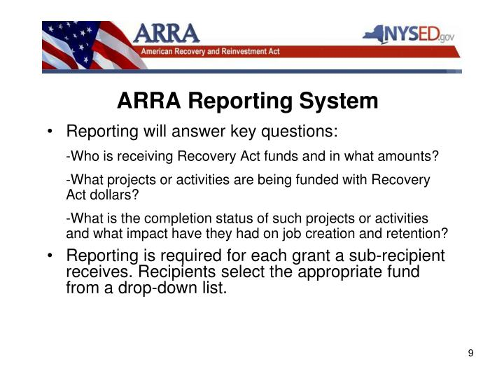 ARRA Reporting System
