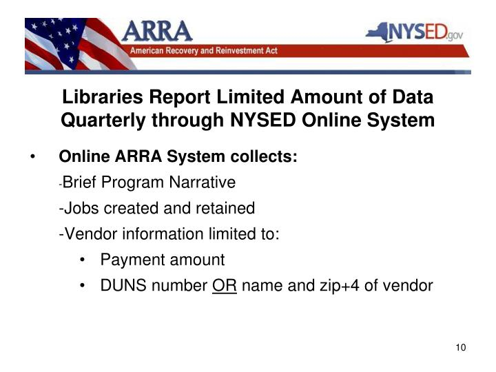 Libraries Report Limited Amount of Data