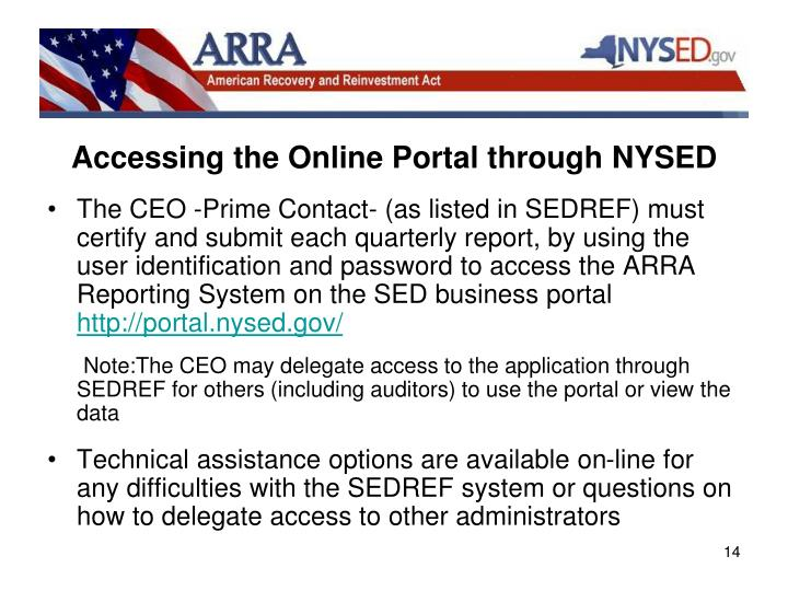Accessing the Online Portal through NYSED