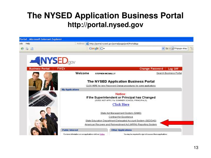 The NYSED Application Business Portal